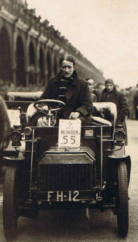 Tom Rolt in his 1903 Humber